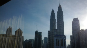 Petronas Towers view from R hotel
