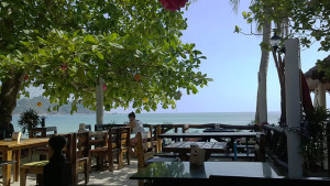 Lunch at one of the beach restaurant